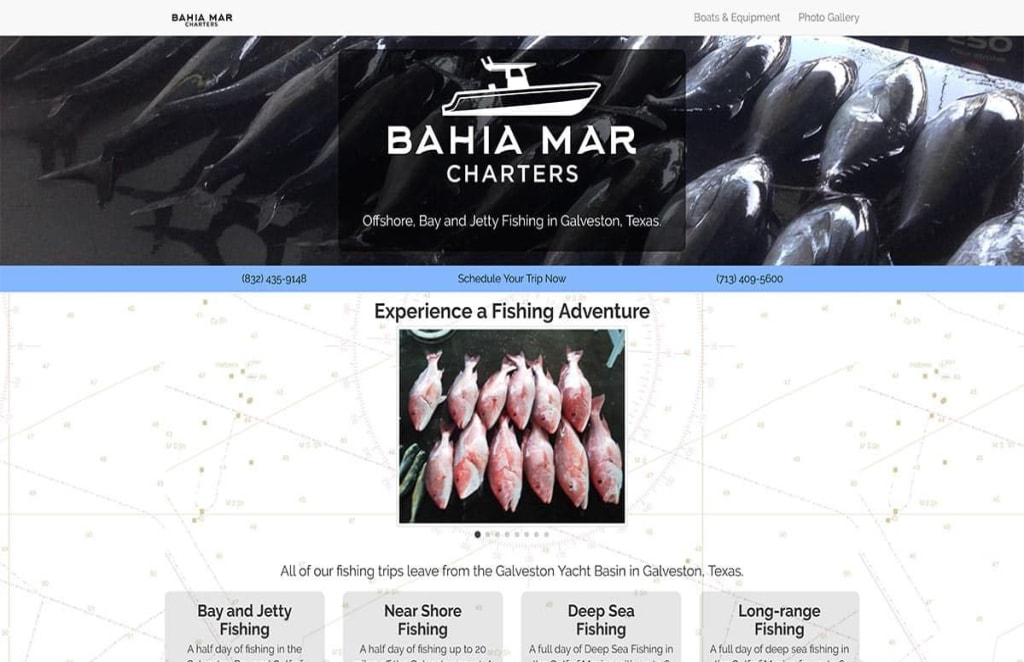 website services for Bahia Mar Charters