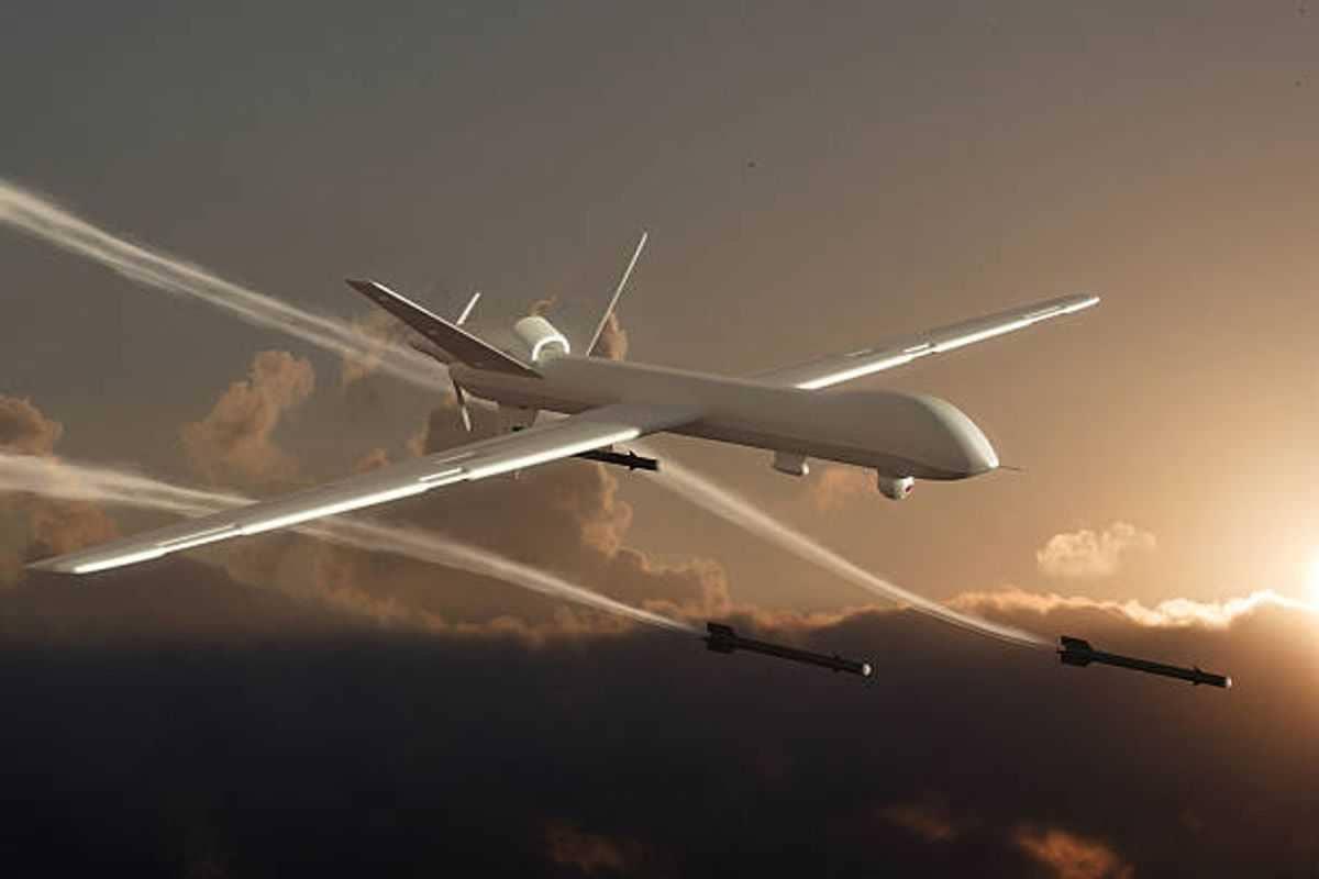 ilustrasi serangan drone