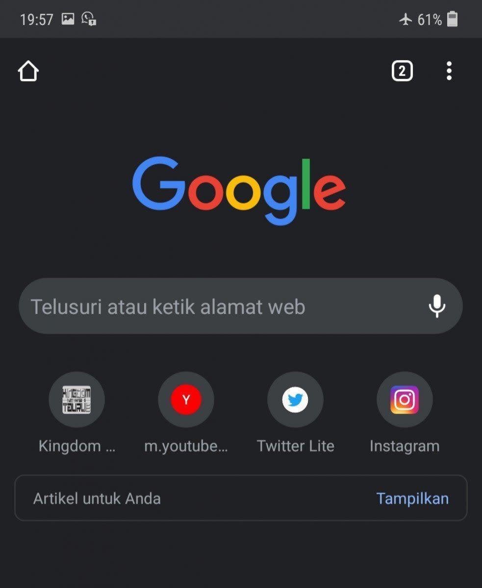 Dark mode Chrome AndroidDark mode Chrome Android