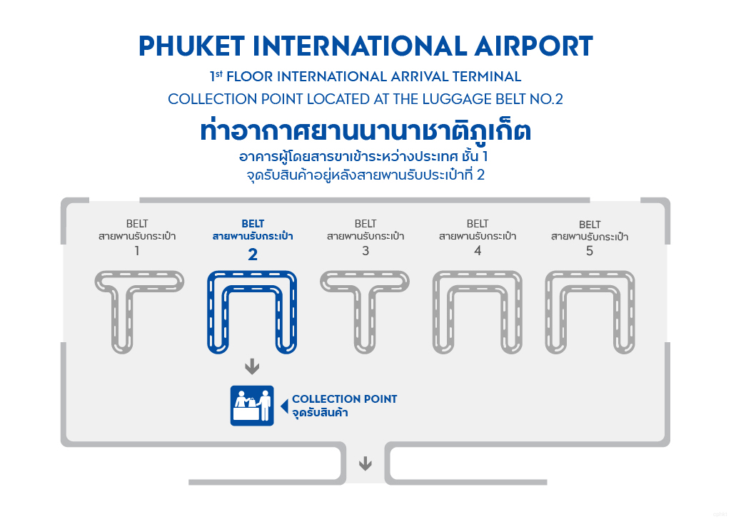Collection Point at PHUKET AIRPORT