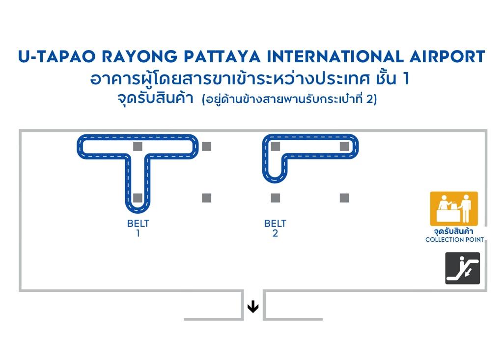 Collection Point at U-TAPAO RAYONG PATTAYA AIRPORT