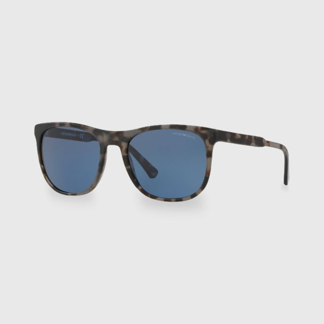 c438e6d3fe89 EMPORIO ARMANI Grey Havana Acetate Men Sunglasses 0EA4099 567980 (56mm.)