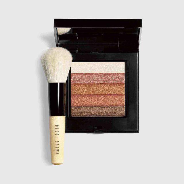 09196bad237f BOBBI BROWN Bronze Shimmer Brick with Face Blender Brush 10.3g