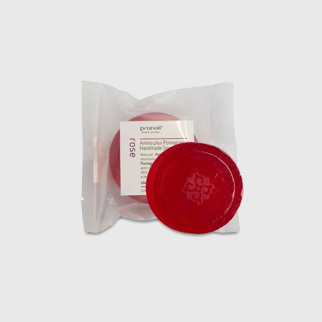 Pranali Rose Amino Plus Pomegranate Handmade Soap 100g
