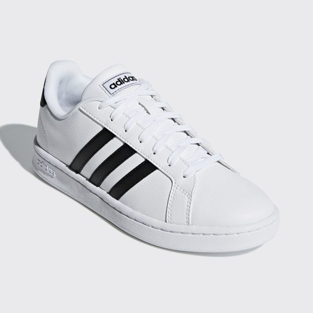 ADIDAS MEN GRAND COURT SHOES WHITE