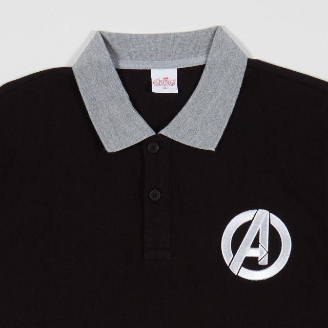 MARVEL Teen Men Polo Avengers Black/Grey
