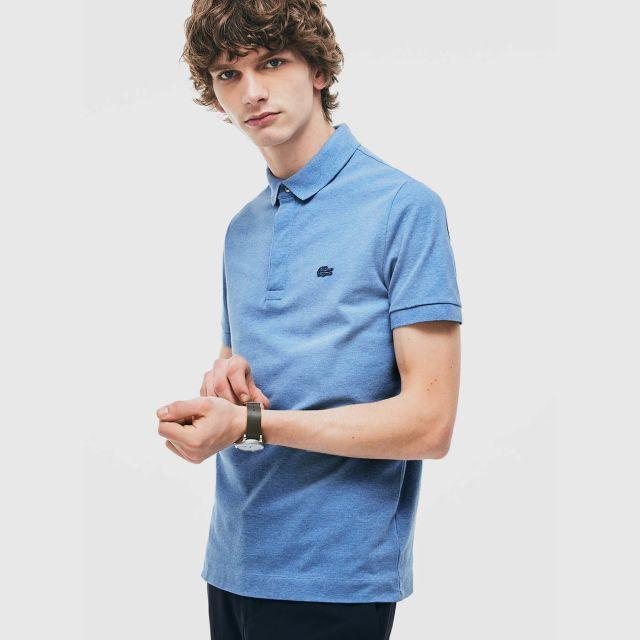 6d15b62495 LACOSTE Men's Paris Polo Shirt Regular Fit Stretch Cotton Piqué ...