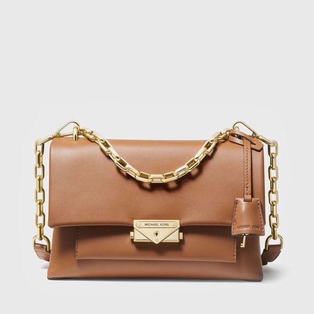 MICHAEL KORS Cece Medium Leather Shoulder Bag ACORN