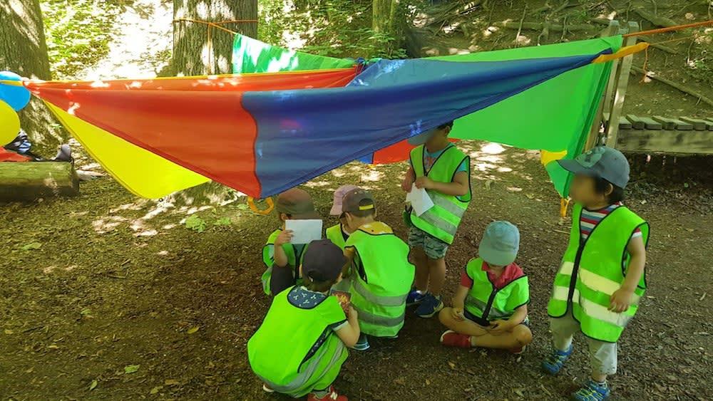 kinderkrippe und waldkinderkrippe bluemli - wir haben ein Zirkuszelt aufgebaut