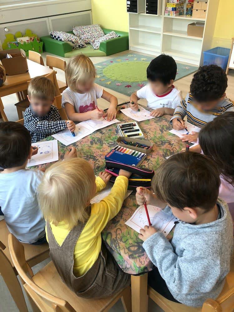 wir malen - Kinderkrippe + Waldkinderkrippe Blüemli in Zürich