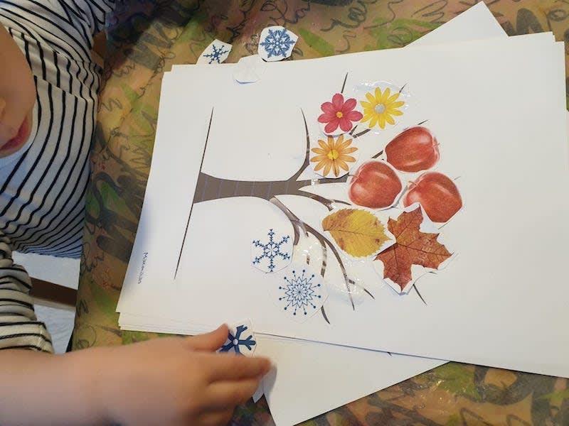 Jahreszeiten Baum gestalten - Kinderkrippe und Waldkinderkrippe Blüemli in Zürich Witikon