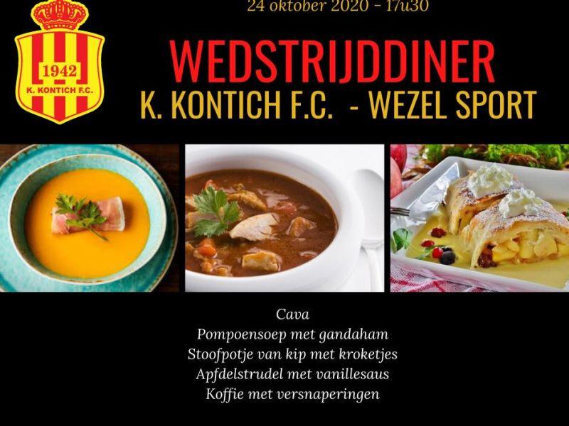 Wedstrijddiner KKFC - Wezel Sport
