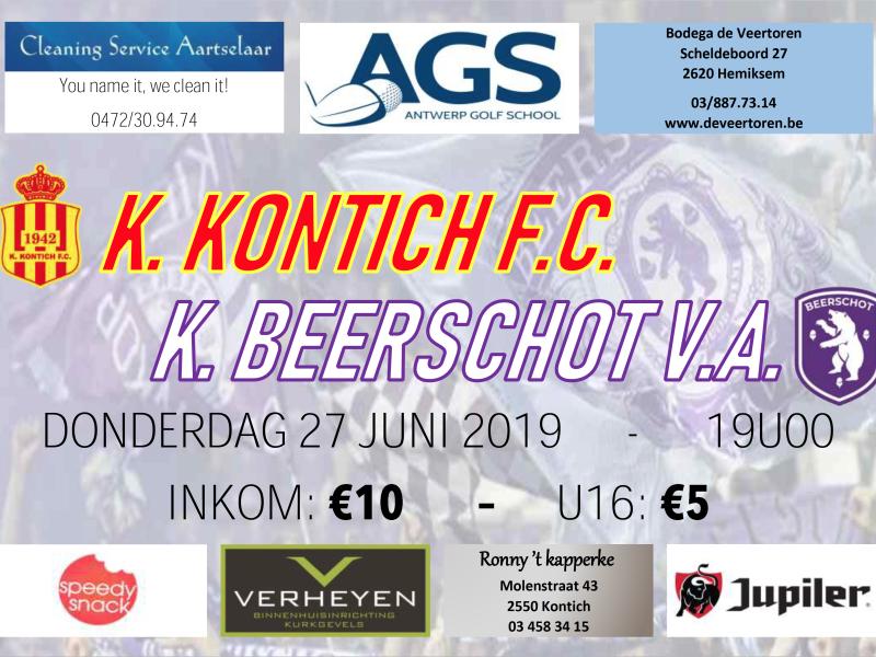 K. Kontich F.C. - Beerschot (27 juni om 19u00)
