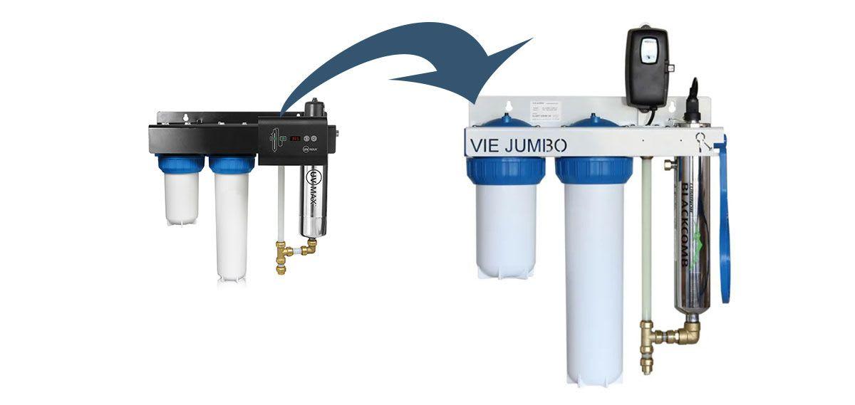 Viktig informasjon om Vie-jumbo vannrensesystem