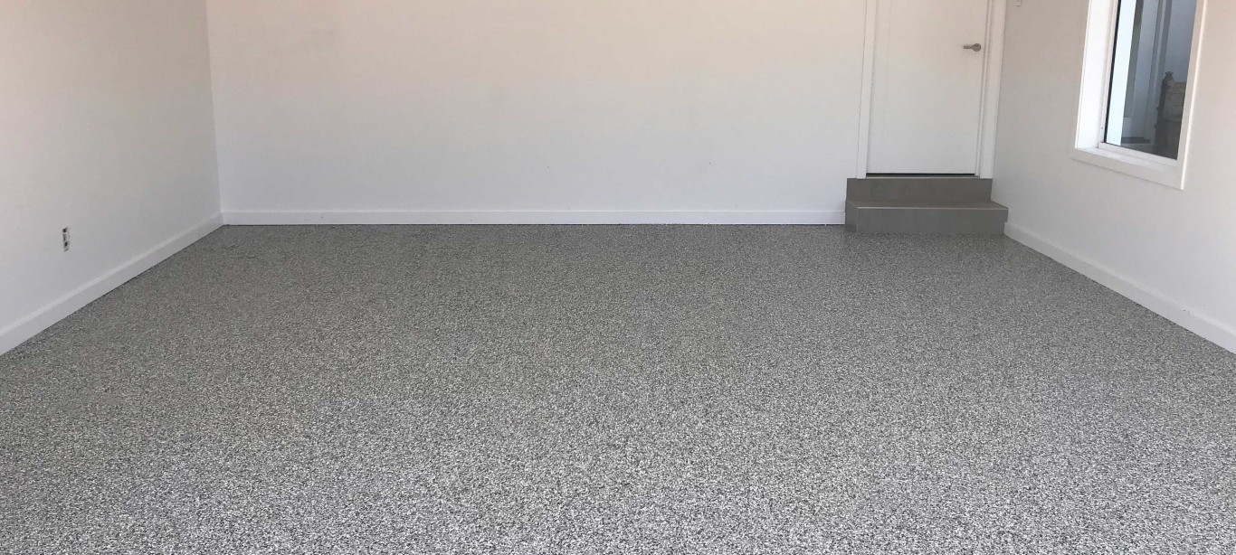 flake flooring application garage