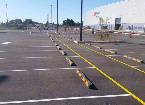 Line marking for a car park.