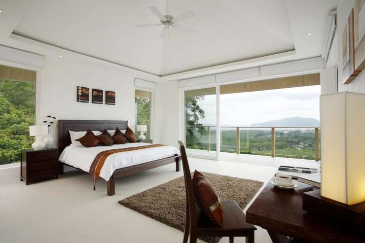 Andaman View (V02) - Bedroom 2, with king-size bed and sea views