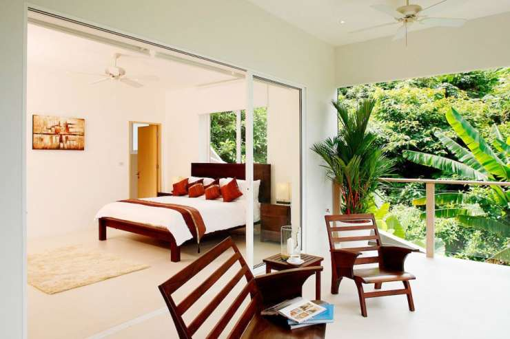 Andaman View (V02) - Bedroom 3 with private balcony overlooking sea views