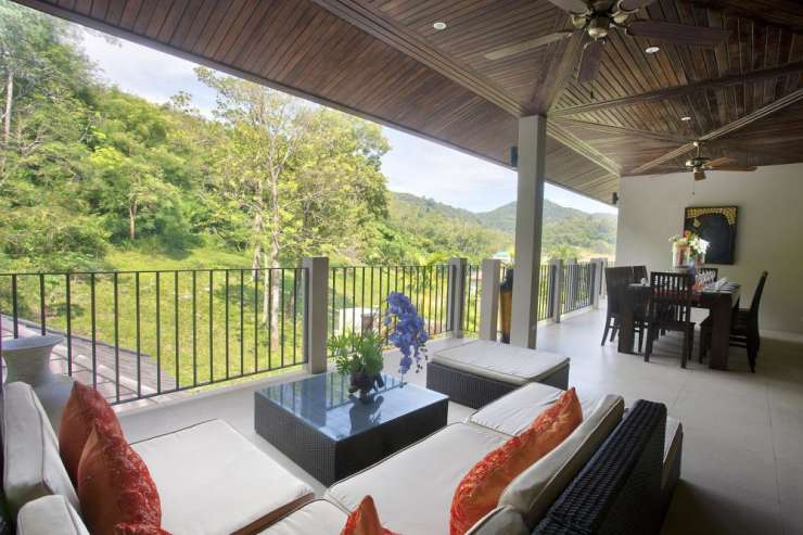 Sunstone Villa (V15) - Spacious balcony with soft seating ideal for sundowners