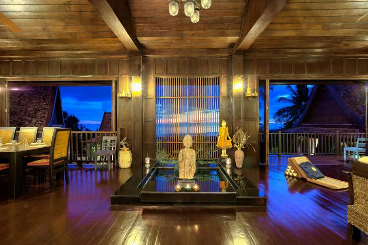 Villa Thai Teak - Villa Thai Teak at night - beautifully finished villa proving you with a holiday never to forget