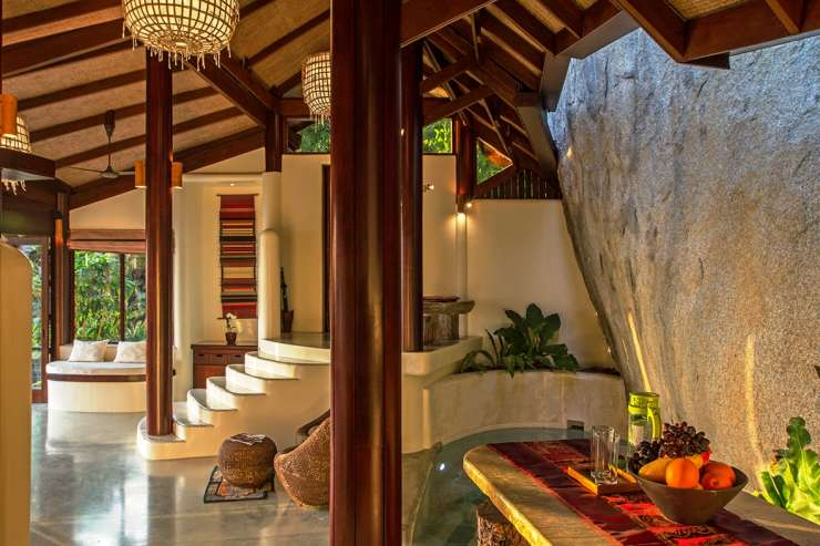Villa Waterfall - Carved into the natural rock formations on a forested Koh Samui hillside