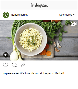 Jasper Market Instagram Brand Awareness Video Landscape