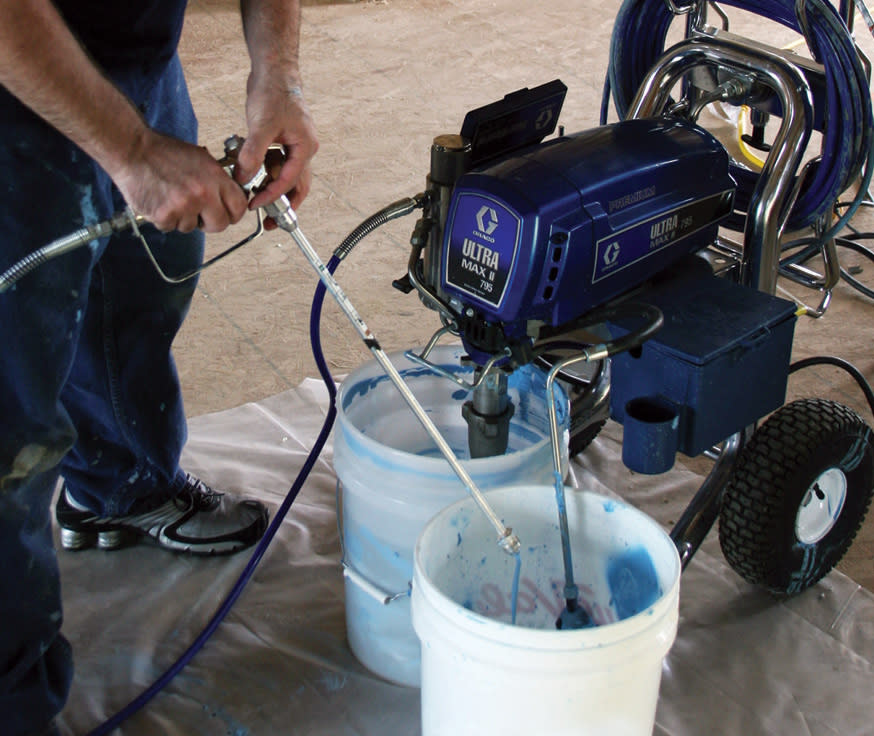 Flush the lines before applying the ECOSEAL air sealant