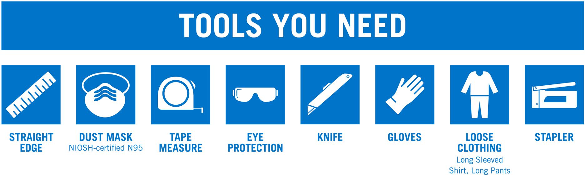 Tools Needed To Install fiberglass Batt Insulation