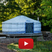 Purple Emperor yurt video