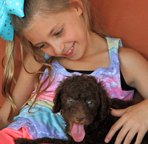 little girl with puppy air condition filters