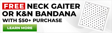 Free Neck Gaiter or Bandana with $50 Purchase