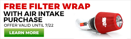 Free Filter Wrap with Intake Purchase