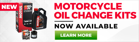 Motorcycle oil change kits now available