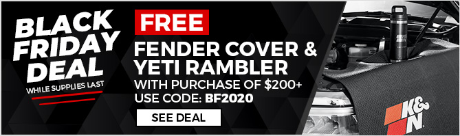Black Friday Deal, Get free fender cover and Yeti rambler with $200+ purchase
