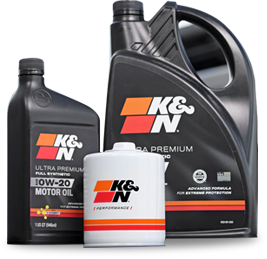 K&N Premium Oil Filter and Motor Oil