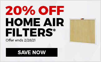 20% Off Home Air Filters