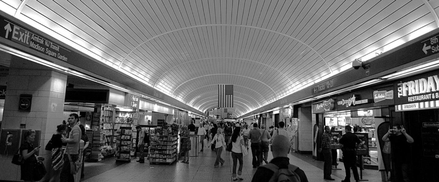 Luggage storage locations in Penn Station