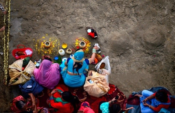 Chhath-festival celebrations