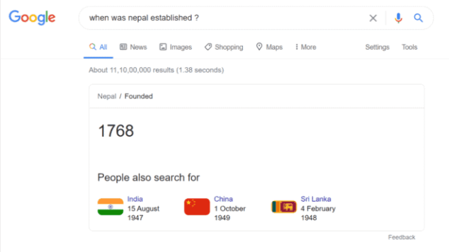 when-was-nepal-established-Google-Search
