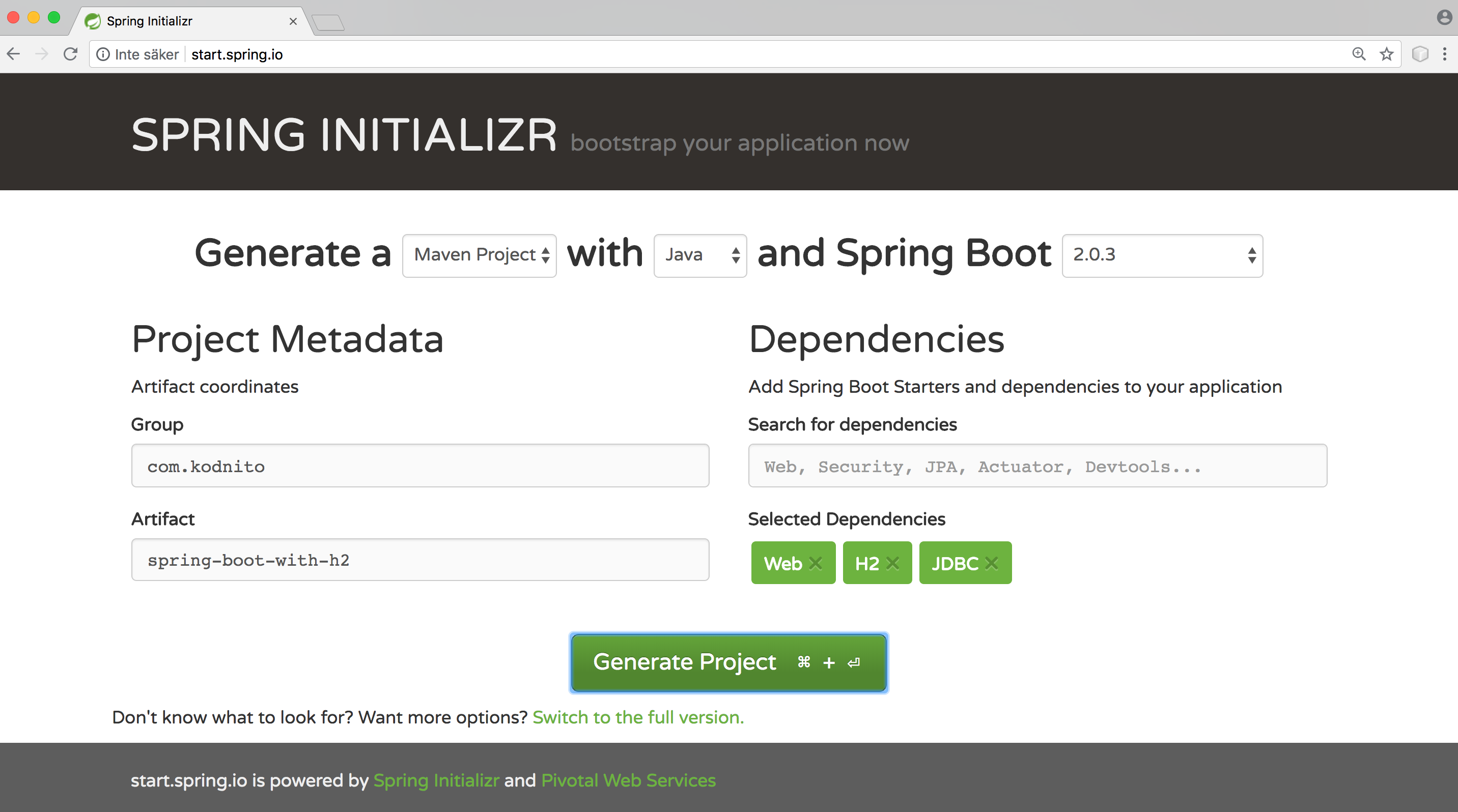 Spring Boot With H2 Database