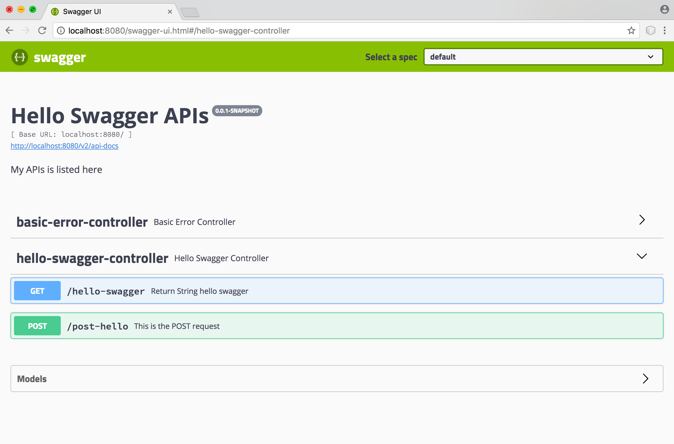 Spring Boot REST API Documentation Using Swagger 2 With Springfox