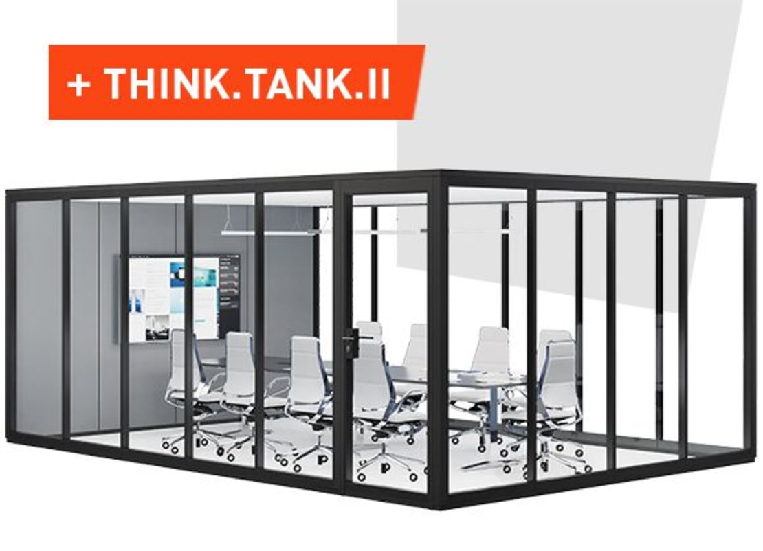 THINK.TANK.II the meeting room made of glass partitions by König + Neurath