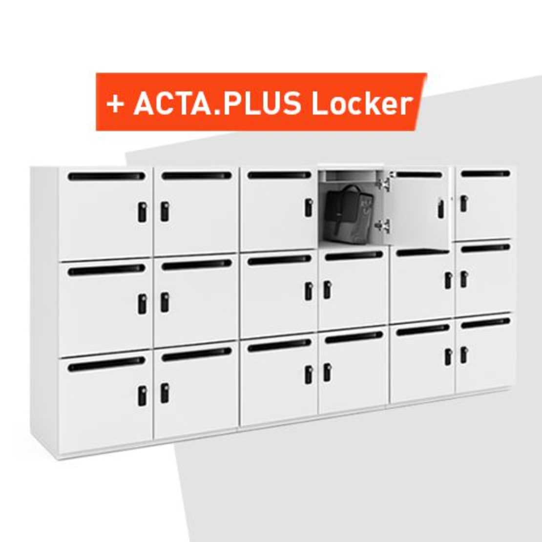 Locker cabinets for storing personal documents in the office