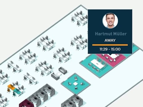"""""""Finding colleagues"""" demonstration"""