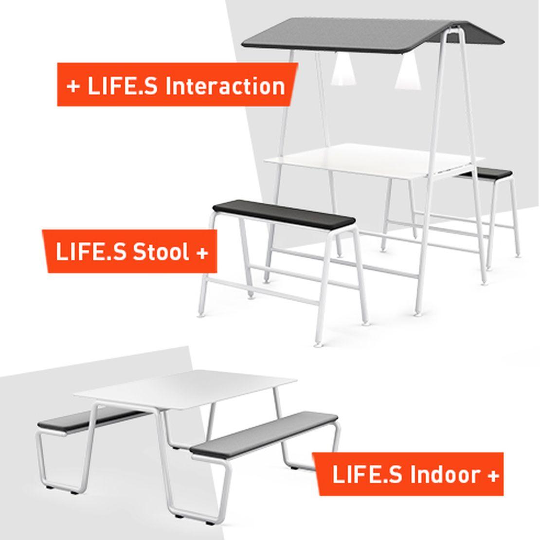 Erweiterung des Tischprogramms LIFE.S durch Lösungen für spontane Besprechungen.