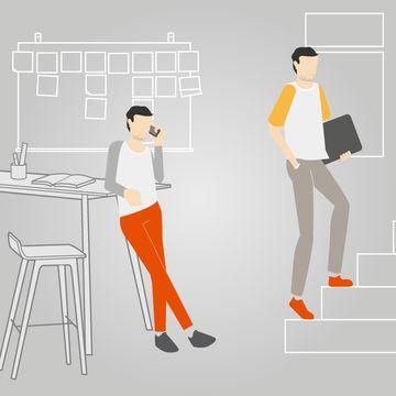 Beweging op de werkplek