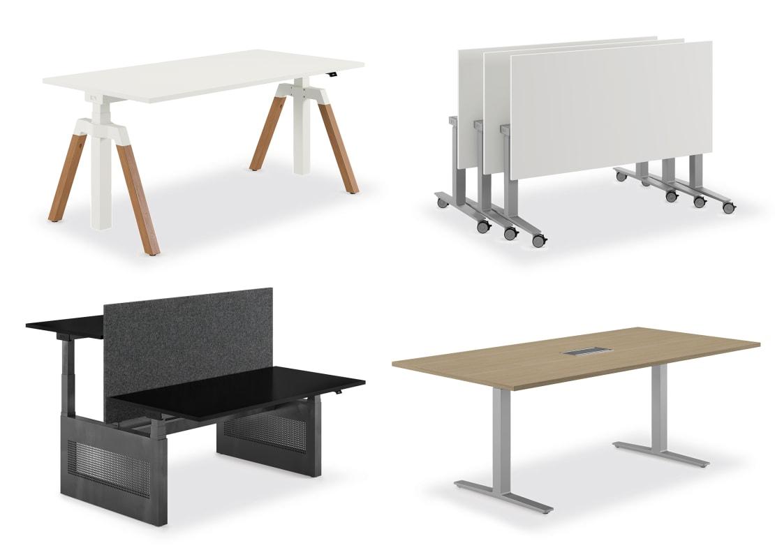 Skalierbares, höhenverstellbares Tischsystem für alle Arbeitssituationen