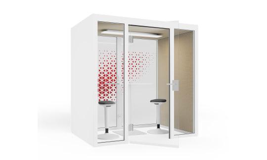 QUIET.BOX Duo XL - Freistehender Meeting-Cube für vier Personen