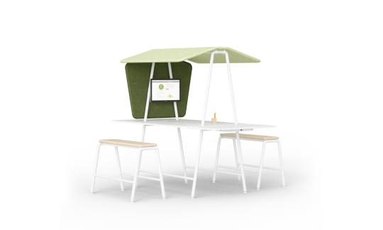 LIFE.S Interaction+Stool - Multifunctional meeting solution for spontaneous meetings