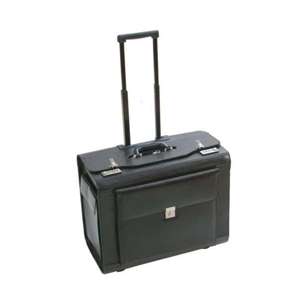 Dermata Business Pilotenkoffer auf Rollen XL aus Leder Produktbild
